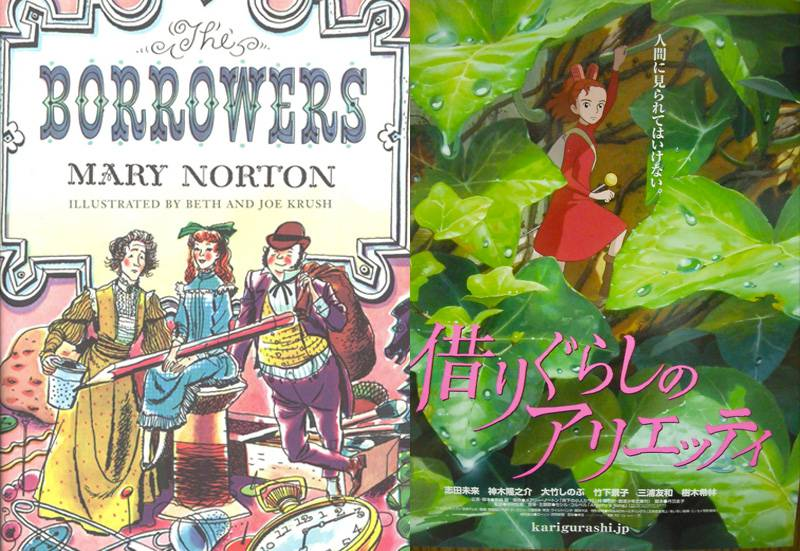 studio ghibli books borrowers arietty covers