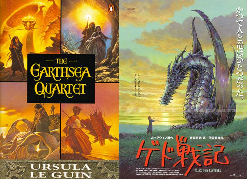 studio ghibli books earthsea covers