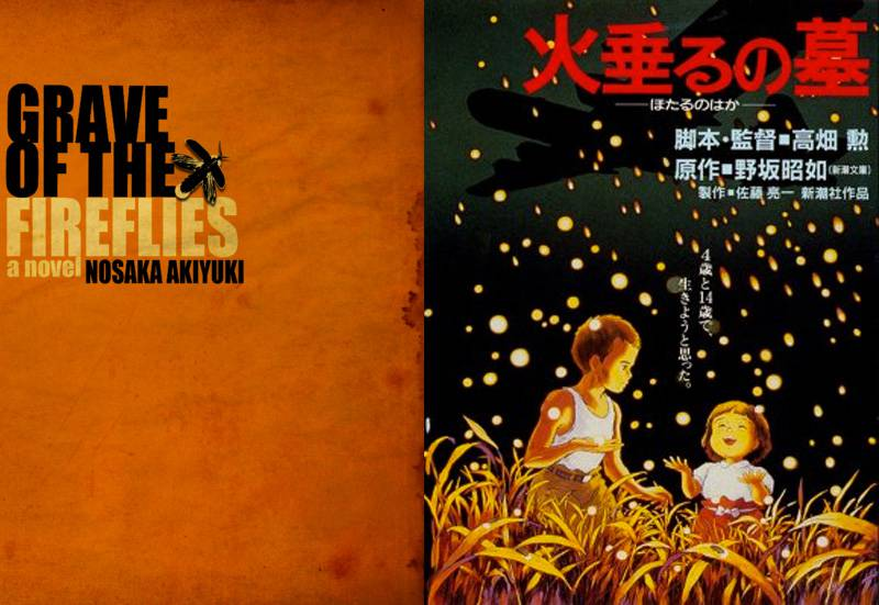studio ghibli books grave of the fireflies covers