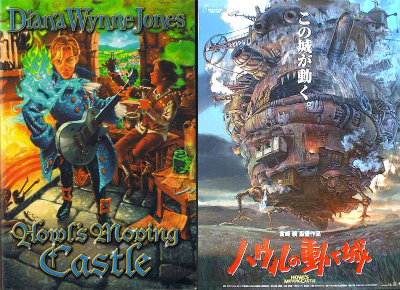 studio ghibli books howls moving castle covers