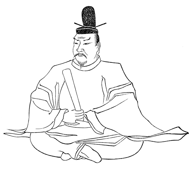 drawing of Japanese emperor