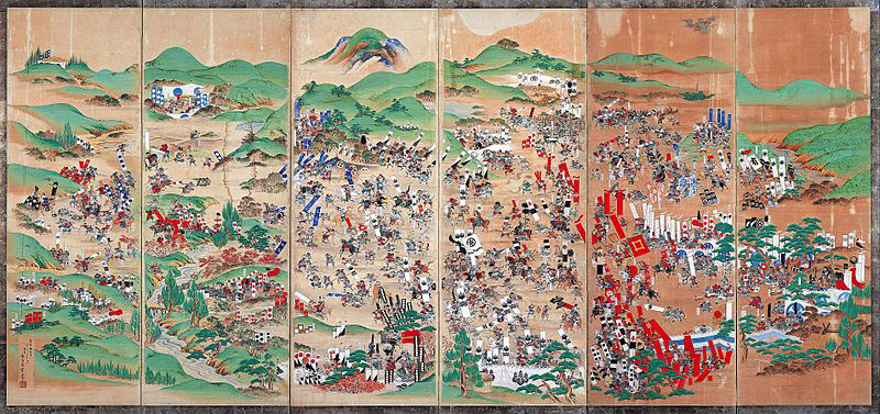 A scroll painting of the Battle of Sekigahara