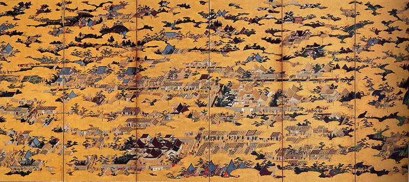 A scroll painting of the Onin war