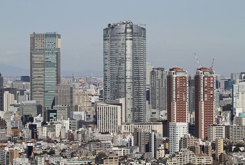skyscrapers in Roppongi hills
