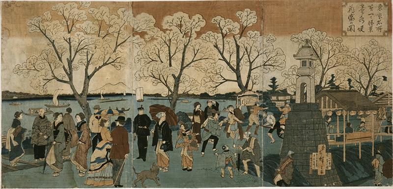 hiroshige sumida river painting