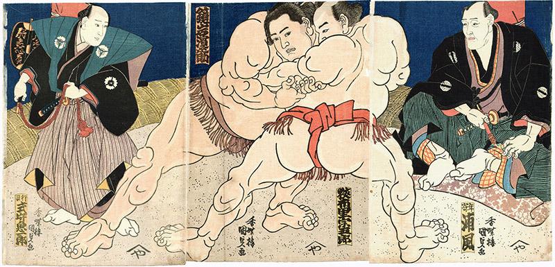 painting sumo wrestlers