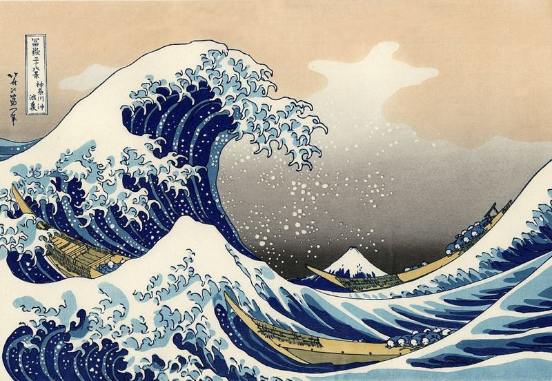 ukiyo-e print painting great wave