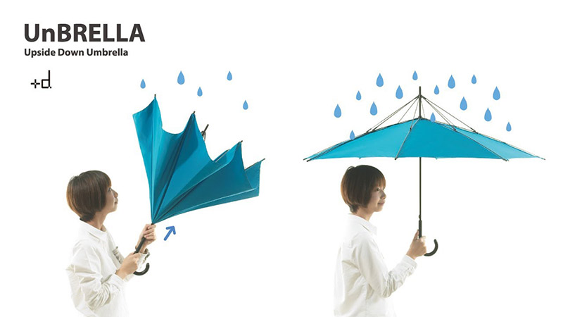 japanese invention upside down umbrella