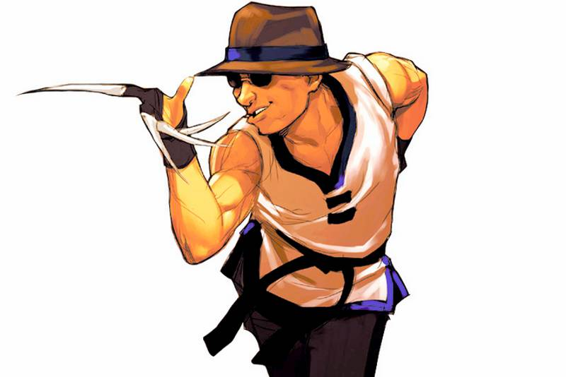 Choi Bounge from King of Fighters wielding Nekote