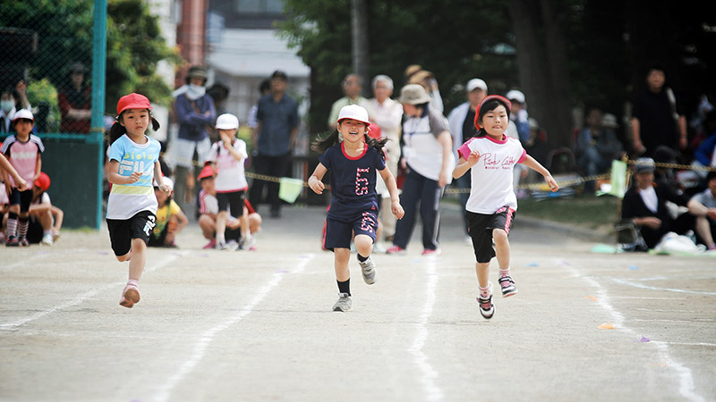 Japanese elementary school sports day