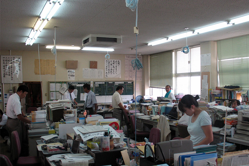 teachers room at a japanese school