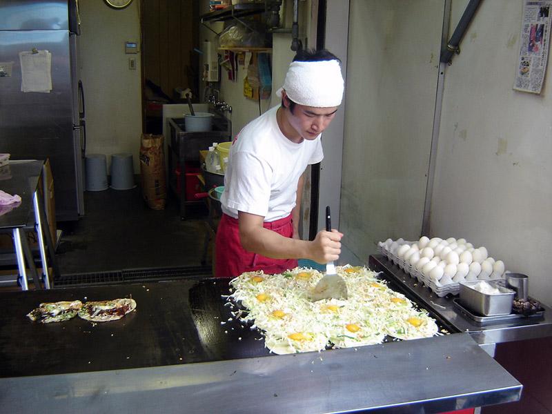 Osaka okonomiyaki chef