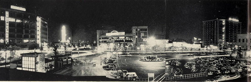 Osaka station in the 1950s