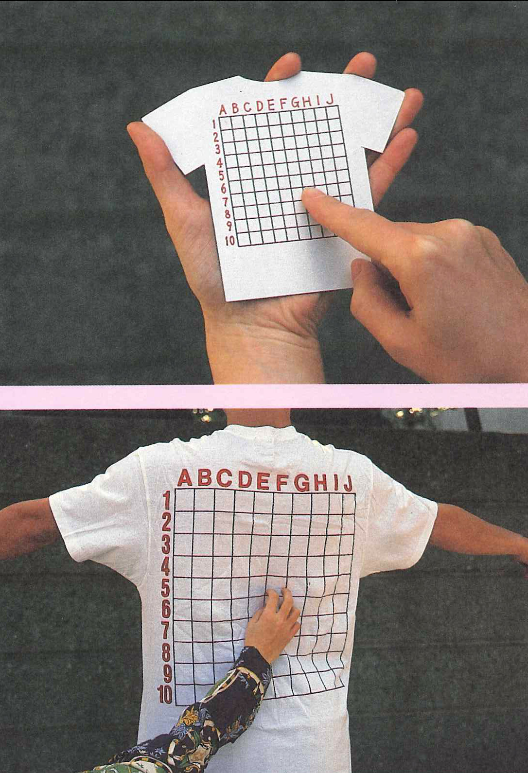 shirt with graph on back
