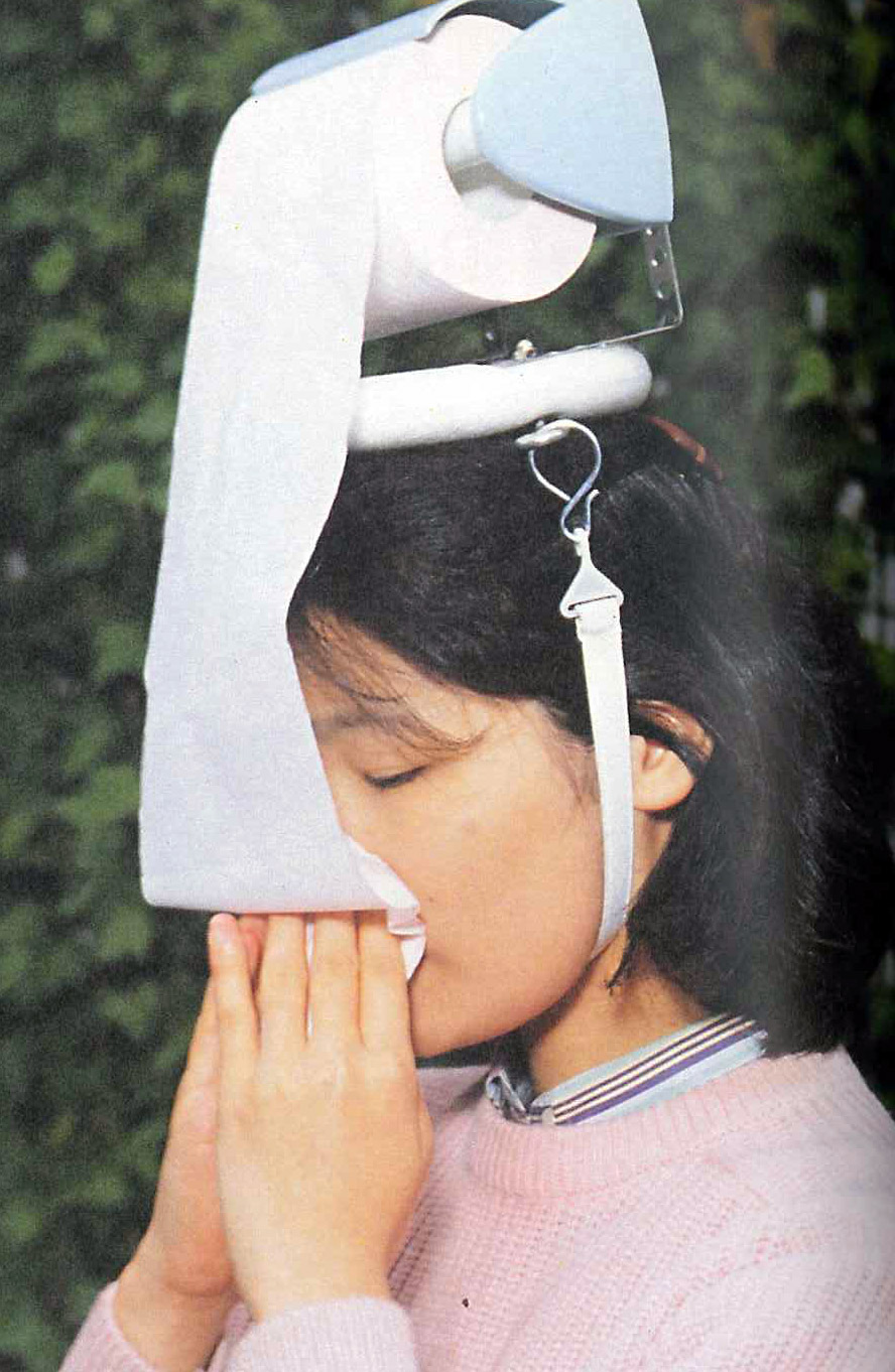 hay fever headset chindogu