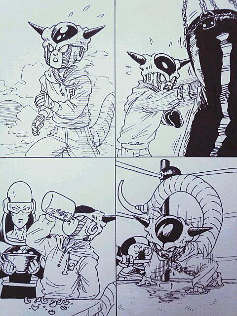 doujinshi of freeza training
