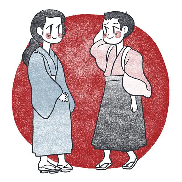 two children from childs play by higuchi ichiyo