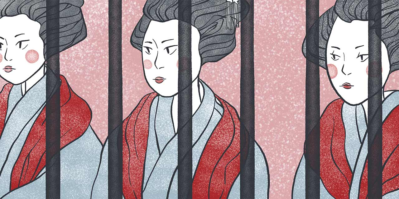meiji period prostitutes sitting together