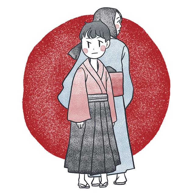 woman and child from separate ways by higuchi ichiyo