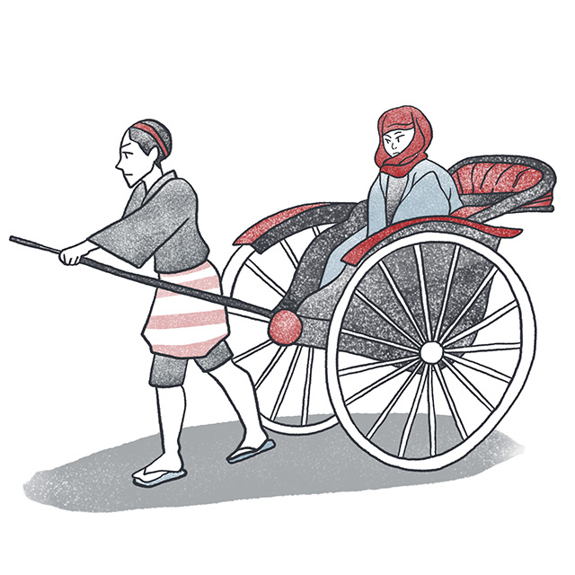 woman pulled in a rickshaw from the thirteenth night by higuchi ichiyo