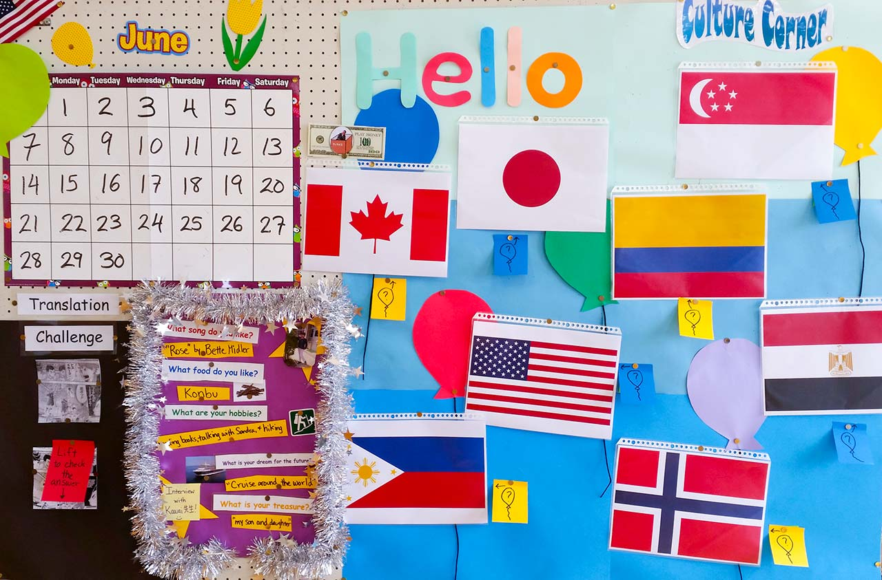 flags used in esl bulletin board ideas