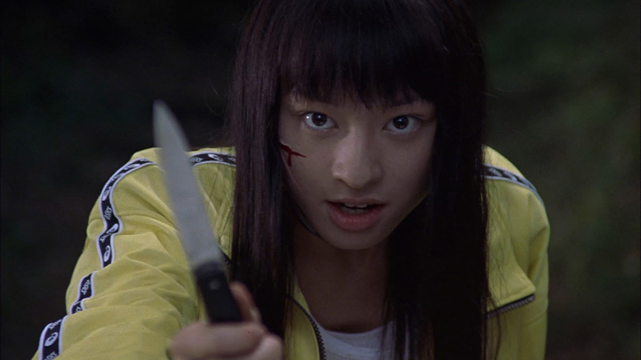 chigumi from japanese horror movie battle royale with knife