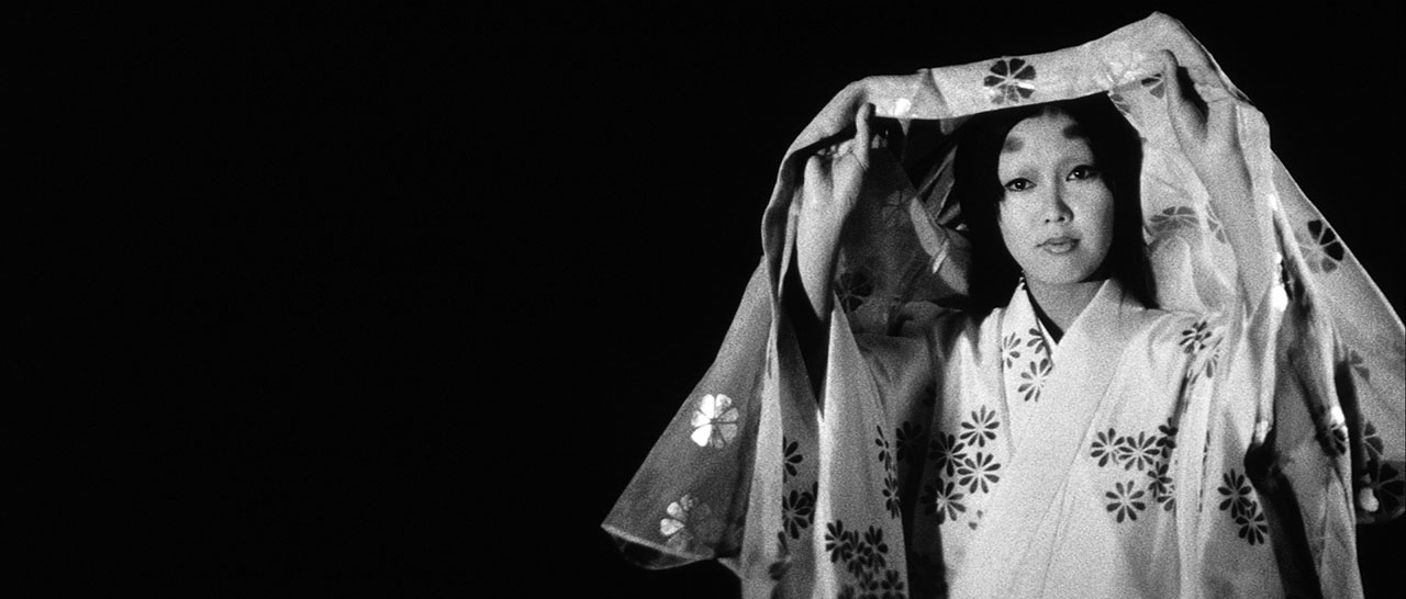 woman in kimono from japanese horror film kuroneko