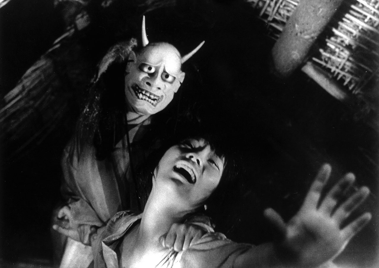 demon mask from japanese horror movie onibaba