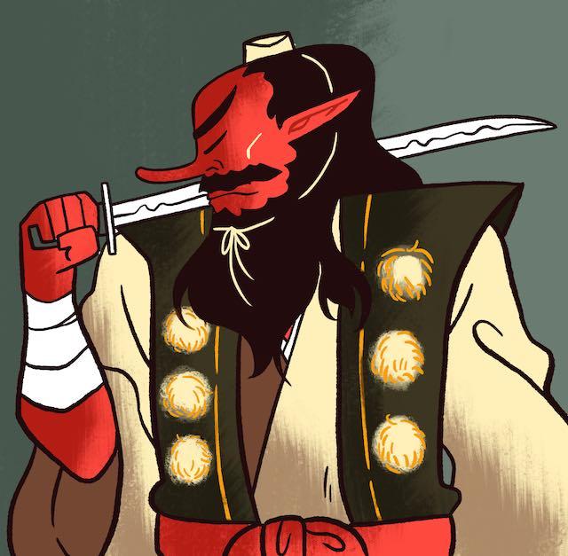tengu holding a sword