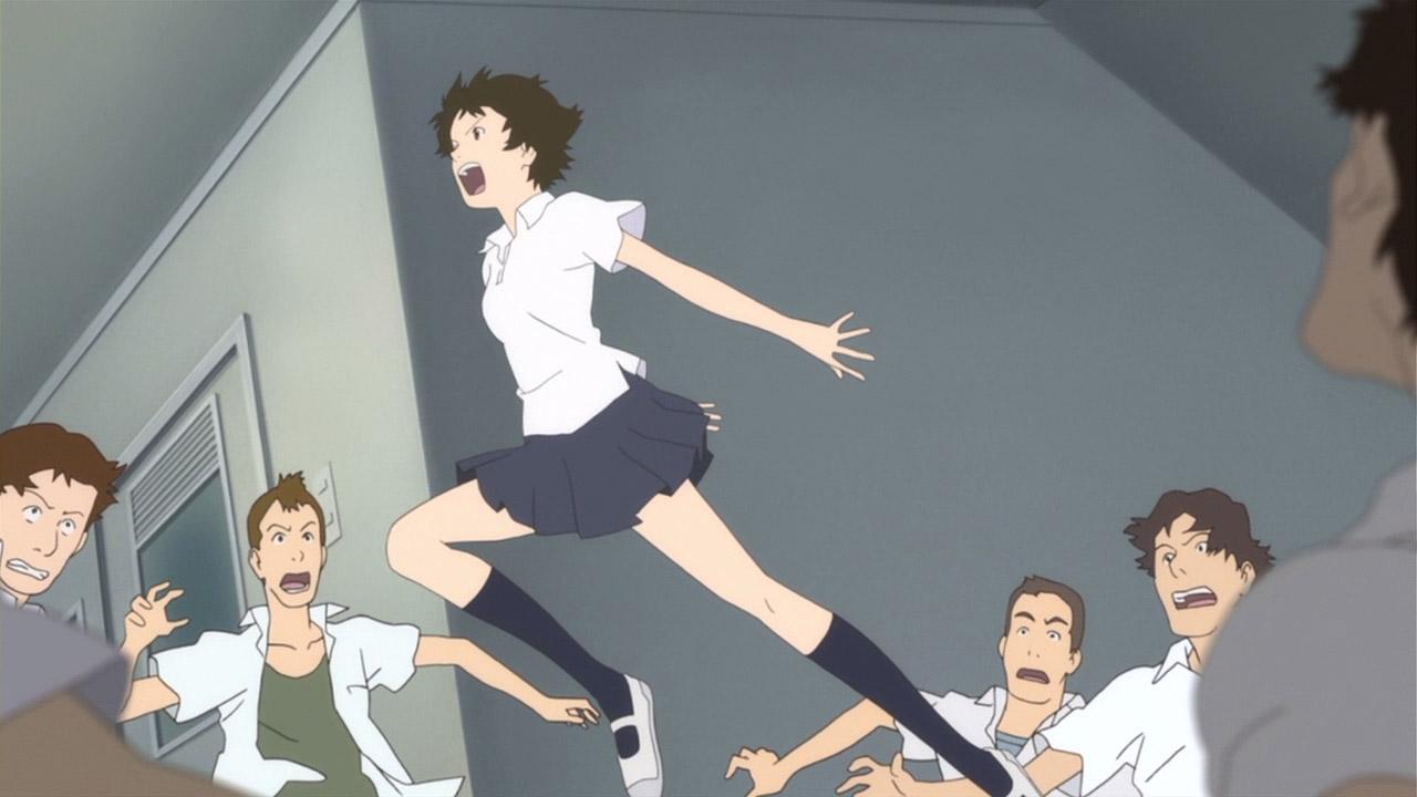 makoto jumping in the girl who leapt through time