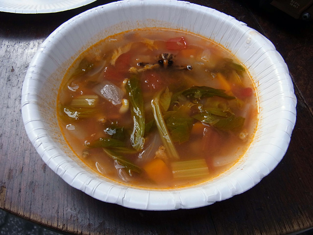 minestrone with baby ants in japan