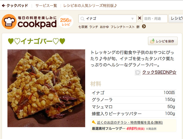 japanese bug recipe of grasshopper granola bars