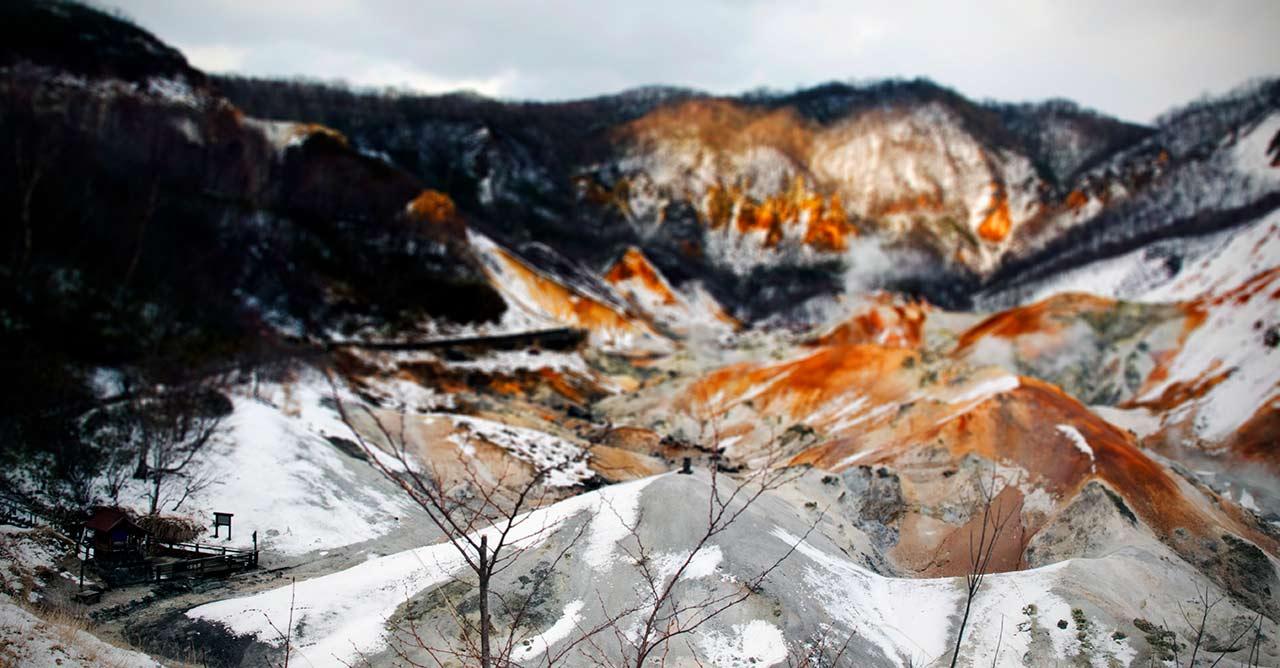 Noboribetsu onsen Jigokudani valley