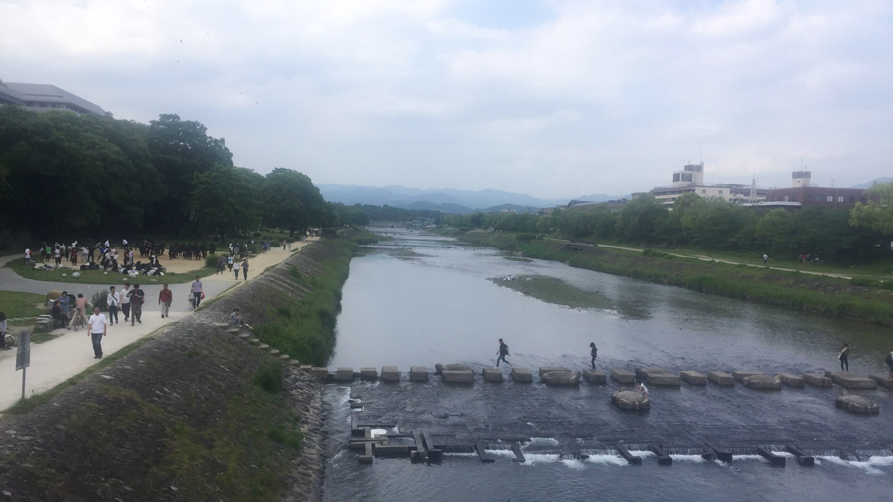 kamo river for kyoto one day itinerary