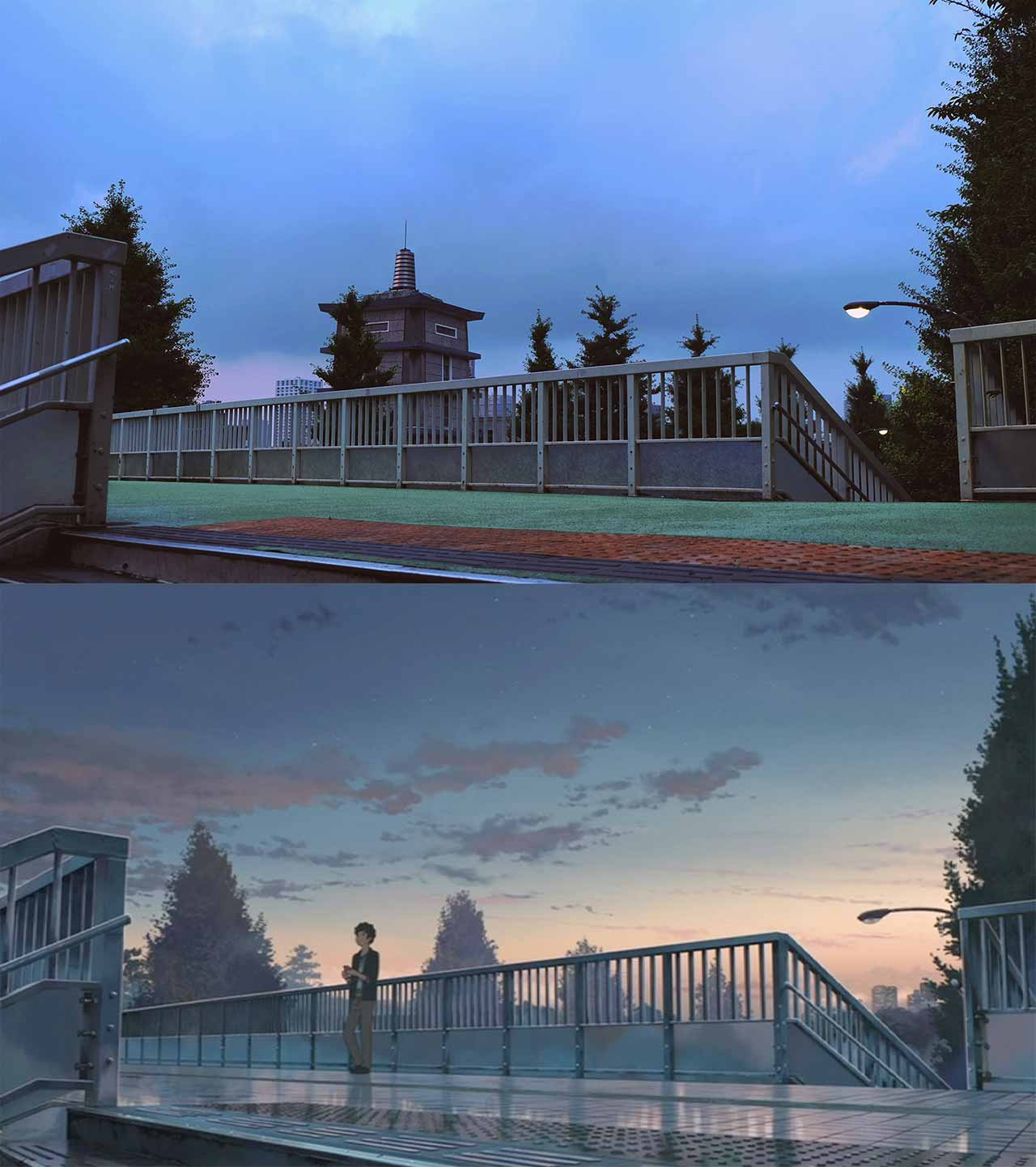 pedestrian bridge in your name