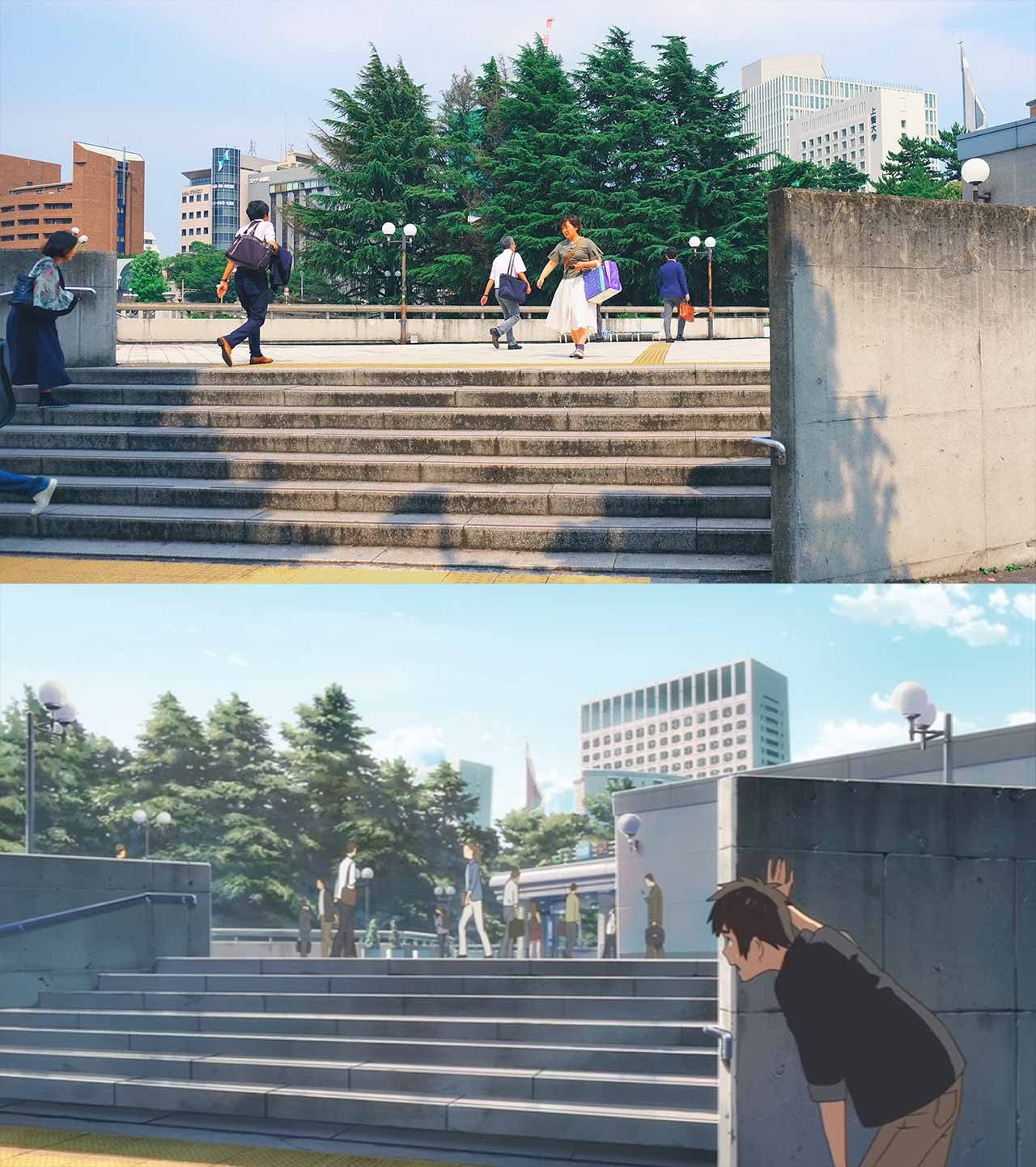 yotsuya station steps in your name anime