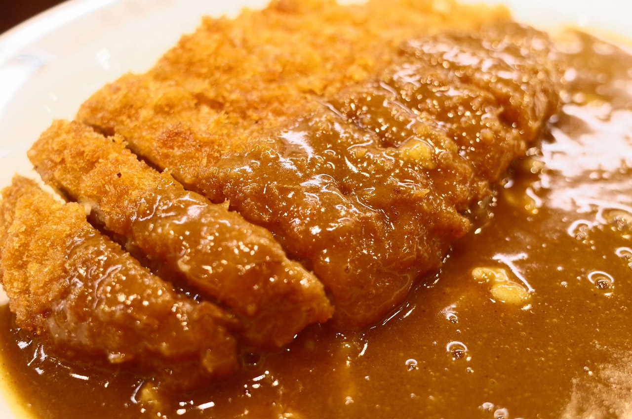 katsu curry and rice at coco curry ichibanya