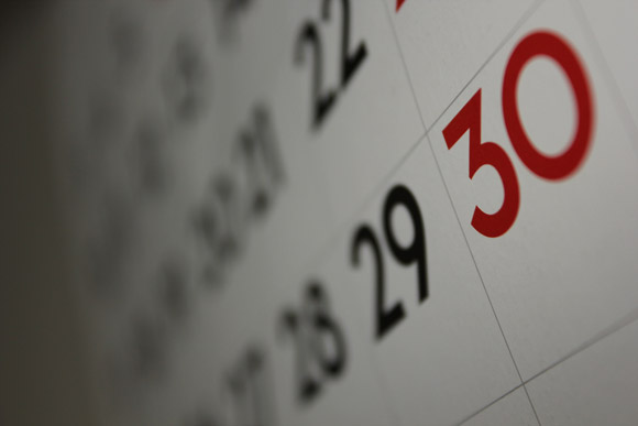 close up image of calendar