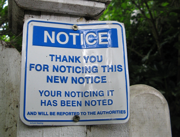 joke notice sign