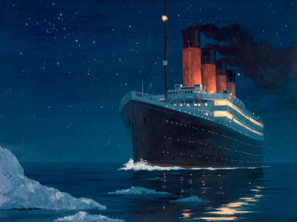 titanic painting iceberg
