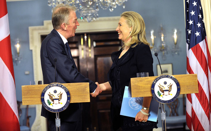 Hilary Clinton and Danish foreign minister