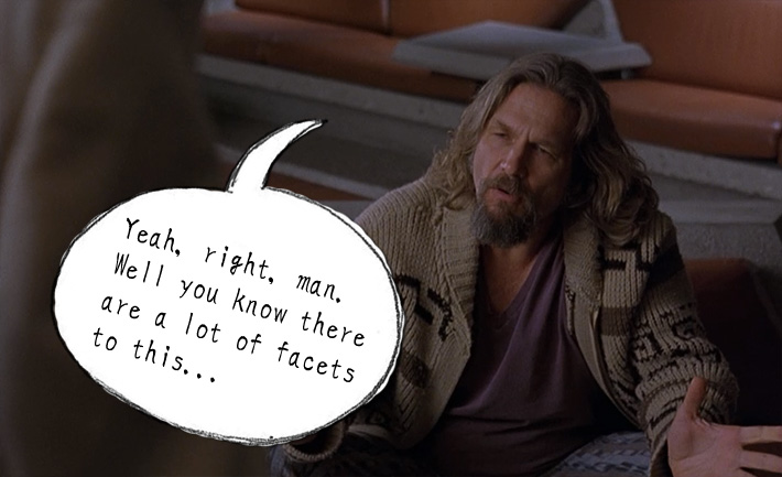 Lebowski explaining the facets of the Japanese language