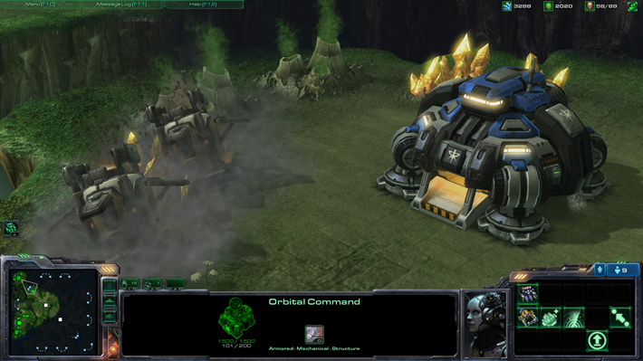 Starcraft 2's Orbital Command building learning Japanese economy