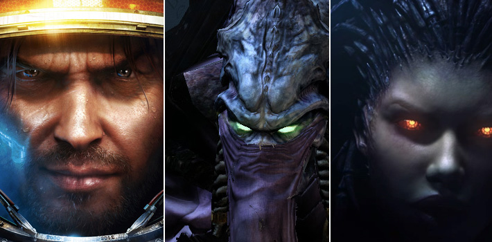 The three playable Starcraft 2 races thinking about learning Japanese