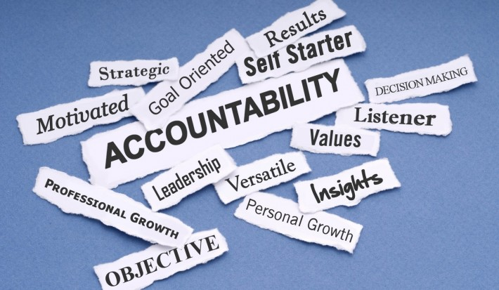 Word cloud with Accountability as the largest word