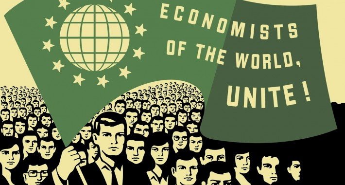 poster of economists marching