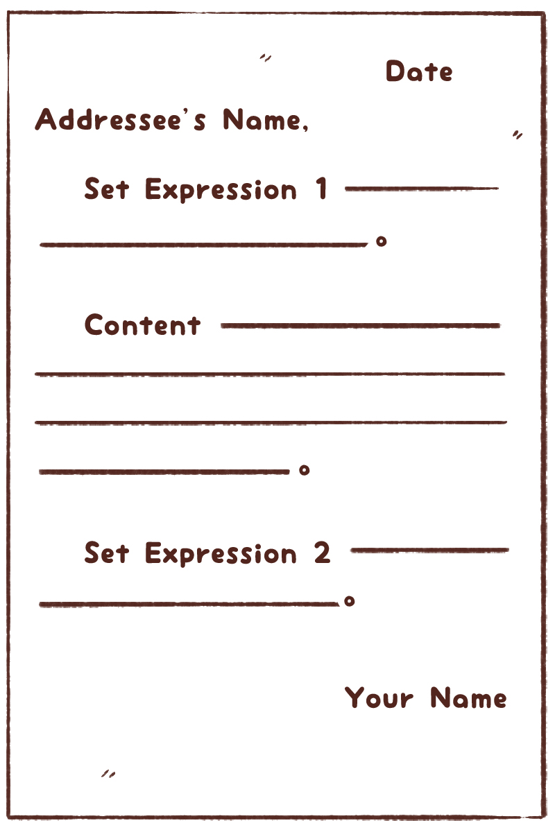 japanese letter writing format