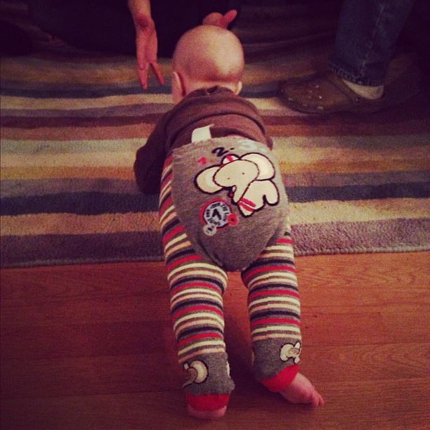 baby in elephant long johns