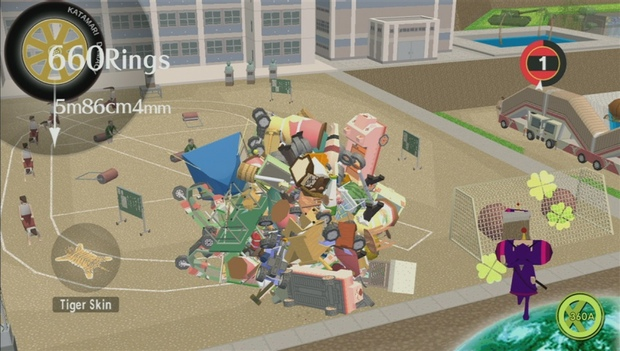 screenshot of video game Katamari Damacy