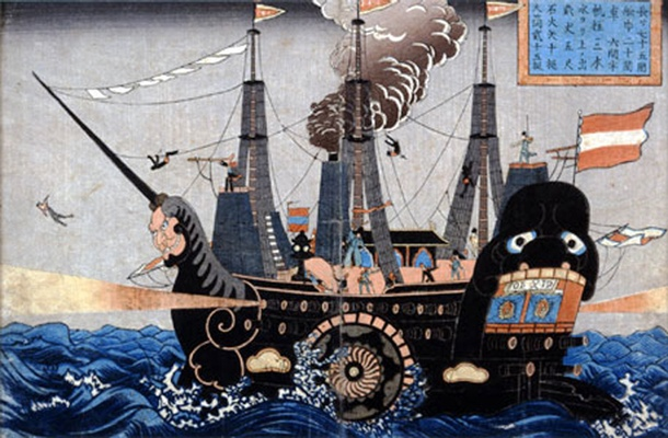 Japanese artistic depiction of the Black Ship